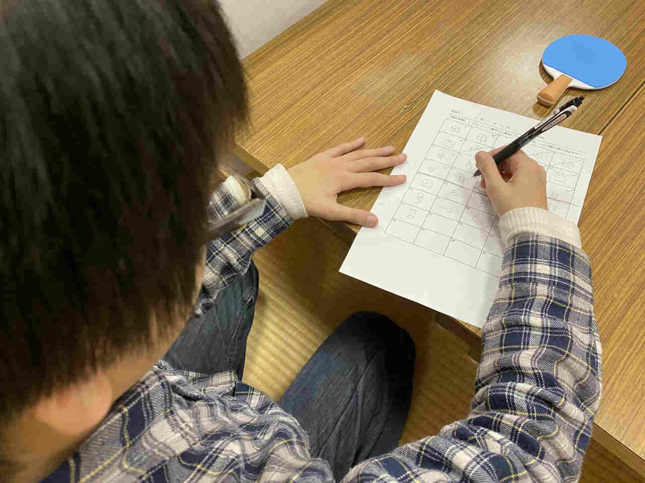 【活動報告】頭の体操「口」という字に二画足すとできる漢字を何字書けるか?